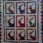 The Herd Fat Quarter Reindeer Quilt - via @Craftsy