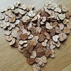 100pcs/lot LOVE Rustic Wooden Wood Hearts, Wedding Table Scatter-Wedding-Default Title-GFT Woodcraft