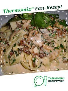 Champignons mit Sahnesoße zu Semmelknödel oder Pasta/Nudeln von la lunica strega. Ein Thermomix ® Rezept aus der Kategorie Saucen/Dips/Brotaufstriche auf www.rezeptwelt.de, der Thermomix ® Community.