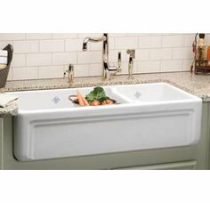 Rohl Rc4018wh Shaws Original Casement Edge Front 1 1 2 Bowl Fireclay Apron Kitchen Sink