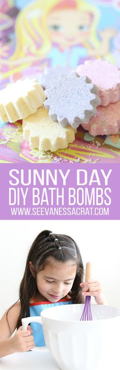 DIY EASY Homemade Sunny Day Bath Bomb Recipe for Kids