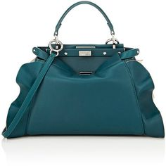 Fendi Women's Peekaboo Mini Satchel (212.405 RUB) ❤ liked on Polyvore featuring bags, handbags, no color, blue satchel, fendi purses, fendi handbags, handbag purse and mini satchel