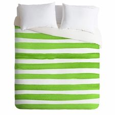 Spruce Stripes Lightweight Duvet Cover