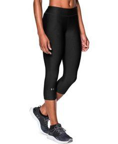 L XL** NWT M UNDER ARMOUR Girl/'s HEAT GEAR Capri Leggings **BLACKOUT NAVY S