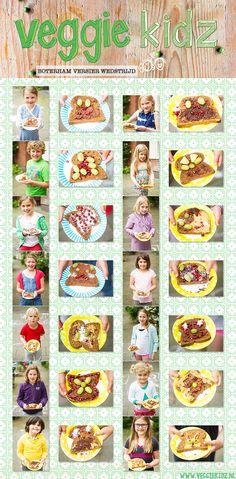 Veggie Kidz | vrolijk vegetarisch kookboek | gezonde vegetarische recepten | koken en bakken voor jezelf en je kinderen Veggie Kidz gelanceerd! Boterham versieren, sapjes persen
