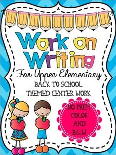 Grades 4-6, perfect for Daily Five centers for Upper Elementary