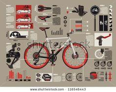 bicycle info graphics, by filip robert, via ShutterStock