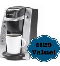 I follow a local couponing page, and there is a drawing for a keurig. All it takes is your email to sign up, and the more people you refer the more times you are entered to win.