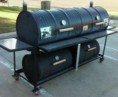 110 Double Barrel Smoker Grill
