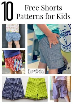 10 Free Shorts Patterns for Kids including patterns for shorts for toddlers, free kids capri patterns, and more free patterns for boys and girls shorts. knit shorts pattern free 10 Free Shorts Patterns for Kids Sewing Kids Clothes, Sewing For Kids, Baby Sewing, Free Sewing, Diy Clothes, Children Clothes, Clothes Refashion, Sew Baby, Young Children