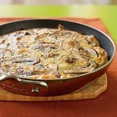 Brunch ideas for the weekend! #Healthy Breakfast and #Brunch Recipes | Mushroom Frittata | CookingLight.com #hgeats