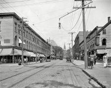 "Burlington, Vermont, circa 1911. ""Church Street north from Bank Street."""