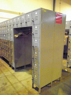 Used lockers for sale by American Surplus Inc. Lockers For Sale, Used Lockers, Door Locker, Half Doors, Personal Storage, Locker Storage, Cabinet, Furniture, Home Decor