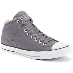 Women's Converse Chuck Taylor All Star High Street Shoes ($60) ❤ liked on Polyvore featuring shoes, sneakers, med grey, converse shoes, converse trainers, grey high top sneakers, lace up shoes and gray sneakers