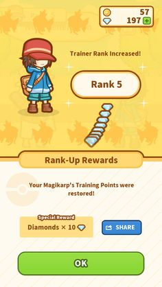 All right! My Rank went up to 5! #Magikarp http://koiking.jp/r/