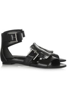 Alexander McQueen|Embellished leather sandals|NET-A-PORTER.COM