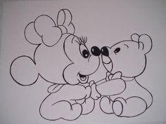 Arte em Panos: Riscos da Minnie