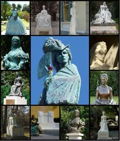 Empress Elisabeth monuments. The one on the top right is in my home country,Switzerland. I went to pay my respects to it several times.