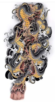 Forarm Tattoos, Irezumi Tattoos, Body Art Tattoos, Hand Tattoos, Japanese Snake Tattoo, Japanese Tattoo Designs, Japanese Sleeve Tattoos, Tiger Tattoo Sleeve, Tattoo Sleeve Designs