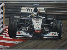 David Coulthard drives around La Rascasse corner driving for West McLaren Mercedes at the 1998 Monaco Grand Prix.