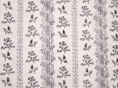 Duran Textiles - simple black print on white, floral in stripes.  Would take 3 separate stamps if I left out the serpentine columb