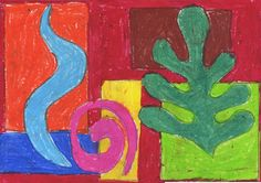 Art Projects for Kids: Overlapping Matisse Shapes
