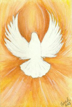 Holy Spirit Dove Print of a Watercolor Painting white dove on gold background Santas Tattoo, Holy Spirit Tattoo, Tapete Floral, Holy Spirit Come, Première Communion, Prophetic Art, Church Banners, Holy Ghost, Arte Pop