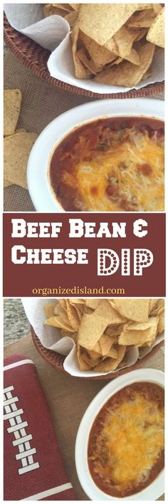 A tasty and super easy hot beef, bean and cheese dip. You can spice it up just the way you like it.