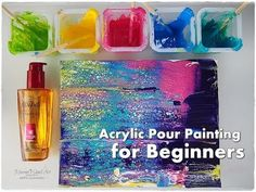 BEGINNERS Acrylic Pour Painting DIY ♡ Make Cells with Swipe Technique ♡ ...
