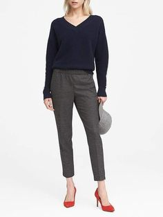 2377f54ae3b Banana Republic Hayden Tapered-Fit Pull-On Ankle Pant