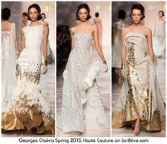 Georges Chakra Spring 2015 Haute Couture Collection is the epitome of creative & contemporary designs that are utterly elegant& memorable.