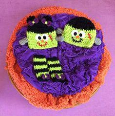 Crochet Baby Frankenstein Twins Set Boy Girl Beanie Bow Legwarmers Halloween Hat Infant Newborn Photography Photo Prop Handmade Baby Shower
