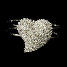 Elegance by Carbonneau Bracelet 1096 Silver Clear #heart