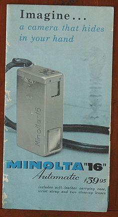 MINOLTA 16 SALES BROCHURE/50980