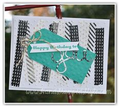 Hello You Thinlits Stacked With Love Washi Tape HSS Sketch Challenge #206 http://www.handstampedstyle.com
