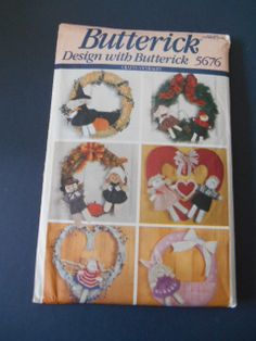Butterick 5676 Holiday Wreath Decor by MadkDesigns on Etsy, $5.99