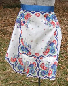 Vintage apron made from handkerchiefs