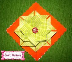 Learn how to make these beautiful tea bag folding rosette at....Aprende a hacer esta linda roseta de tea bag folding en.......http://craftmaniacss.blogspot.jp/2013/02/tea-bag-folding-3-rosette.html
