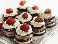 These Chocolate Ripple Cakes are a quick and easy NO BAKE recipe made by sandwiching Chocolate Ripple biscuits with cream. We've even added a Christmas version below! Photo Source - Recipe via 'Mouths of Mums' Chocolate Ripple Cakes …
