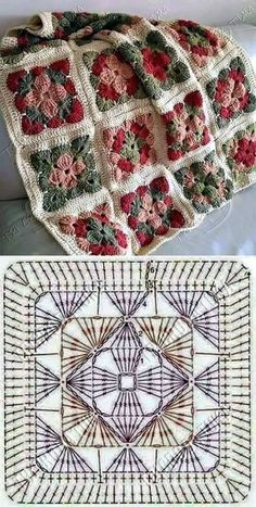 How to Crochet a Solid Granny Square:separator:How to Crochet a Solid Granny Squ. : How to Crochet a Solid Granny Square:separator:How to Crochet a Solid Granny Square Crochet Motifs, Crochet Blocks, Granny Square Crochet Pattern, Crochet Mandala, Crochet Diagram, Crochet Squares, Crochet Chart, Crochet Granny, Crochet Blanket Patterns