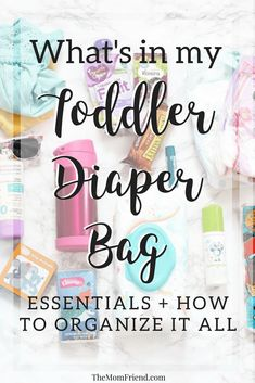 Check out what's in my toddler diaper bag including all the essentials and how to organize it, and even use your own purse instead of a baby diaper bag!