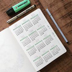 Yearly overview bullet journal #bulletjournal #bujo #yearlyspread #stationery #bulletjournallove #bulletjournaljunkies #bulletjournaling #planner #planning #bujospreads #planwithme #bujobeauty #minimalistbulletjournal