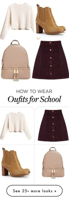 10 Super Cute Skirt Outfit Ideas You Can Try: #1. Burgundy Corduroy Skirt