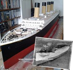 Titanic Ship, Rms Titanic, Titanic Model, Kate Winslet And Leonardo, Titanic Photos, Titanic History, Cool Lego Creations, Modern History, Shipwreck