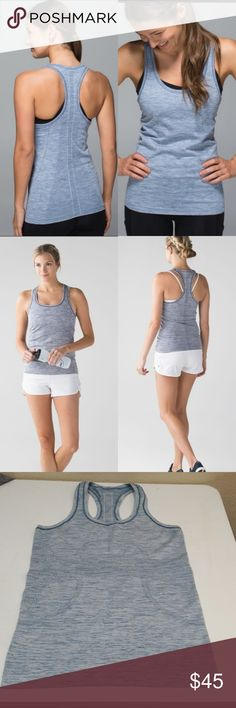 Lululemon swiftly tech racerback size 8 In good condition  Size 8 Very cute and comfy!  I have another same exact one listed size 6! And much more lulu stuff!  Checkout my listings for more awesome stuff!!! lululemon athletica Tops