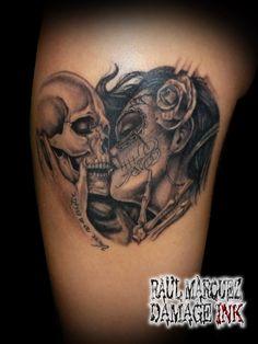 el beso de la muerte para Zaira!!! damage inkorporated tattoo art  raultat2s raultat2sart