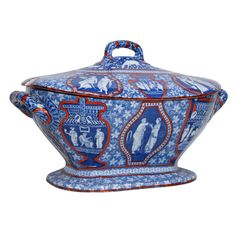 Spode Clobbered Greek Ware Tureen 1810