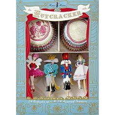 Nutcracker Cupcake Set. my mom used these last year on cupcakes at Christmas for the kids! adorable!