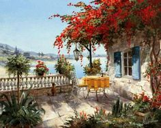 Countryside Paintings by Reint Withaar | Cuded http://www.pinterest.com/nikolanico/landscape-paintings/