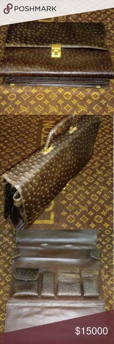 Genuine Ostrich Leather Briefcase Genuine Ostrich Leather Briefcase For Men/Exotic Leather Briefcase Bags Briefcases